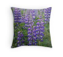 Alaskan Lupin Throw Pillow