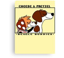 Official Cheese and Pretzel  Canvas Print