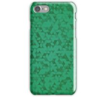 Green Triangles iPhone Case/Skin