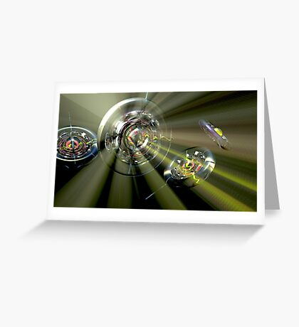 Watch Out For Flying Glass Wheels Greeting Card