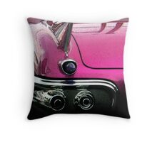 Pink Cadillac Throw Pillow