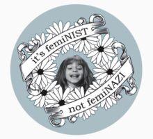 It's Feminist, Not Feminazi: in Blue T-Shirt
