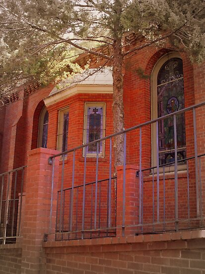Red Brick Church by patti haskins