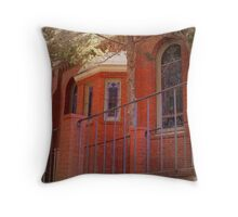 Red Brick Church Throw Pillow