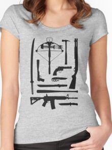 The Walking Dead Weapons Women's Fitted Scoop T-Shirt