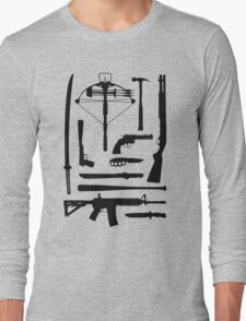The Walking Dead Weapons Long Sleeve T-Shirt