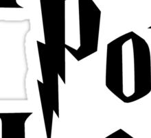 Harry Pot Head (black writing) Sticker