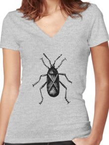 Squash Bug Insect Women's Fitted V-Neck T-Shirt
