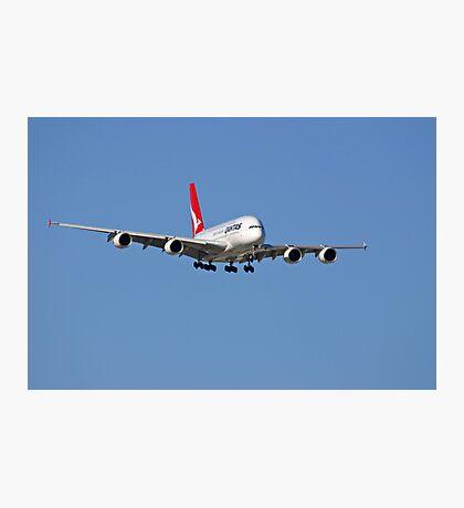 Qantas A380 On Approach  Photographic Print
