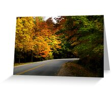 Autumn Roads Greeting Card