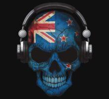 Dj Skull with New Zealand Flag Baby Tee