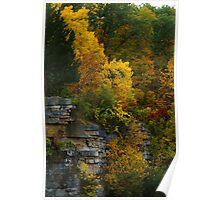 Autumn Cliffs Poster