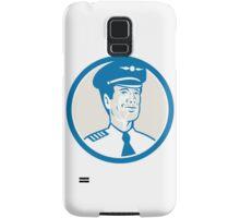 Flight Engineer Navigator Circle Retro Samsung Galaxy Case/Skin