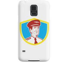 Aircraft Pilot Aviator Shield Retro Samsung Galaxy Case/Skin