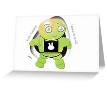 Aki Lime Robot - I Come In Peace! Greeting Card