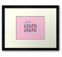 pink fun faith Framed Print
