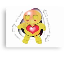 Michiko Yellow Robot - Recycled Love Canvas Print