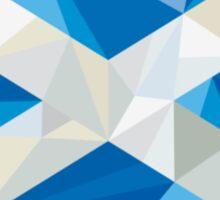 Scotland Flag Icon Circle Low Polygon Sticker