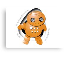 Toshi Orange Robot - Greetings Earthlings! Canvas Print