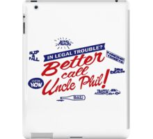 Better call uncle Phil parody iPad Case/Skin