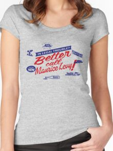 Better call Maurice Levy - (The Wire) Women's Fitted Scoop T-Shirt
