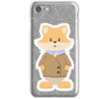 foxes on a gray background iPhone Case/Skin