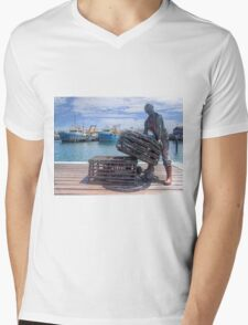 Fishing Harbour Fremantle WA - HDR Mens V-Neck T-Shirt