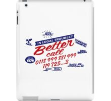 Better Call 0118 99... IT Crowd iPad Case/Skin
