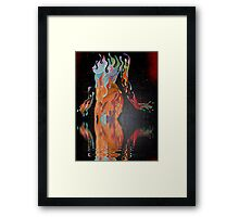Leon Alegria's Melting Woman Framed Print