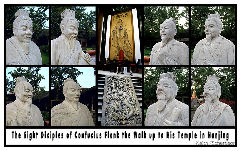 The Eight Diciples of Confucius in Nanjing by Keith Richardson