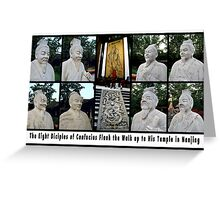 The Eight Diciples of Confucius in Nanjing Greeting Card