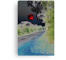 Crystal Ball on All Hallows Eve Sunset Canvas Print