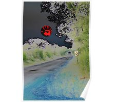 Crystal Ball on All Hallows Eve Sunset Poster