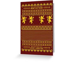 House Lannister Sweater Greeting Card