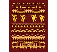 House Lannister Sweater Photographic Print