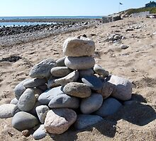 Rocks on Rocks at Matunuck Beach by Jack McCabe
