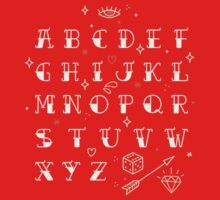 Homemade tattoo's alphabet One Piece - Short Sleeve