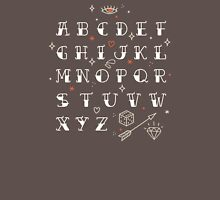 Homemade tattoos alphabet Unisex T-Shirt