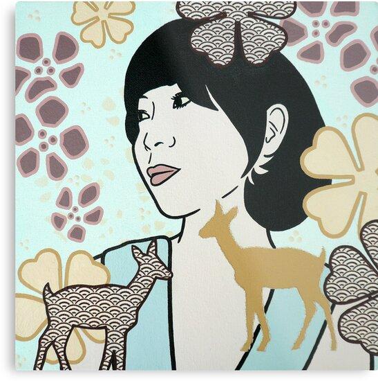 Doe A Deer II by Simone Maynard