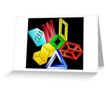 Impossible Shapes Greeting Card