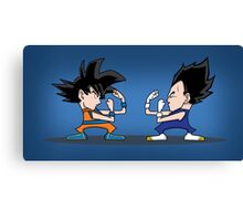 Goku vs Vegeta Canvas Print