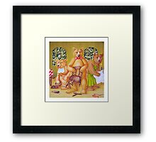 Goldilocks & the Three Bears - story book cover (w/c on c/pressed Illust bd) Framed Print