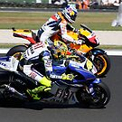 Rossi, Hayden and a seagull by Michelle Dewis
