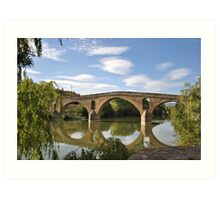 Bridge in Puente la Reina - Camino de Santiago Art Print