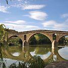 Bridge in Puente la Reina - Camino de Santiago by Hilda Rytteke
