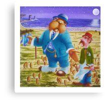 The Walrus & The Carpenter - Story Book cover (w/c on c/press illus bd) Canvas Print