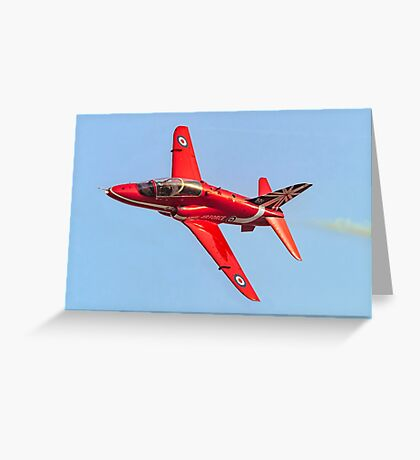 Red Arrows Hawk T.1 with anniversary paint job Greeting Card