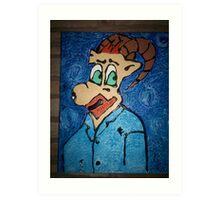 vincent van goat  Art Print