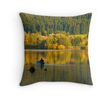 Herbst am Gruentensee (Allgaeu) Throw Pillow