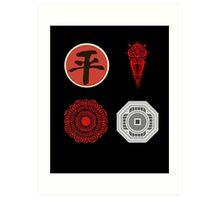 Legend Of Korra Villians Logo Art Print